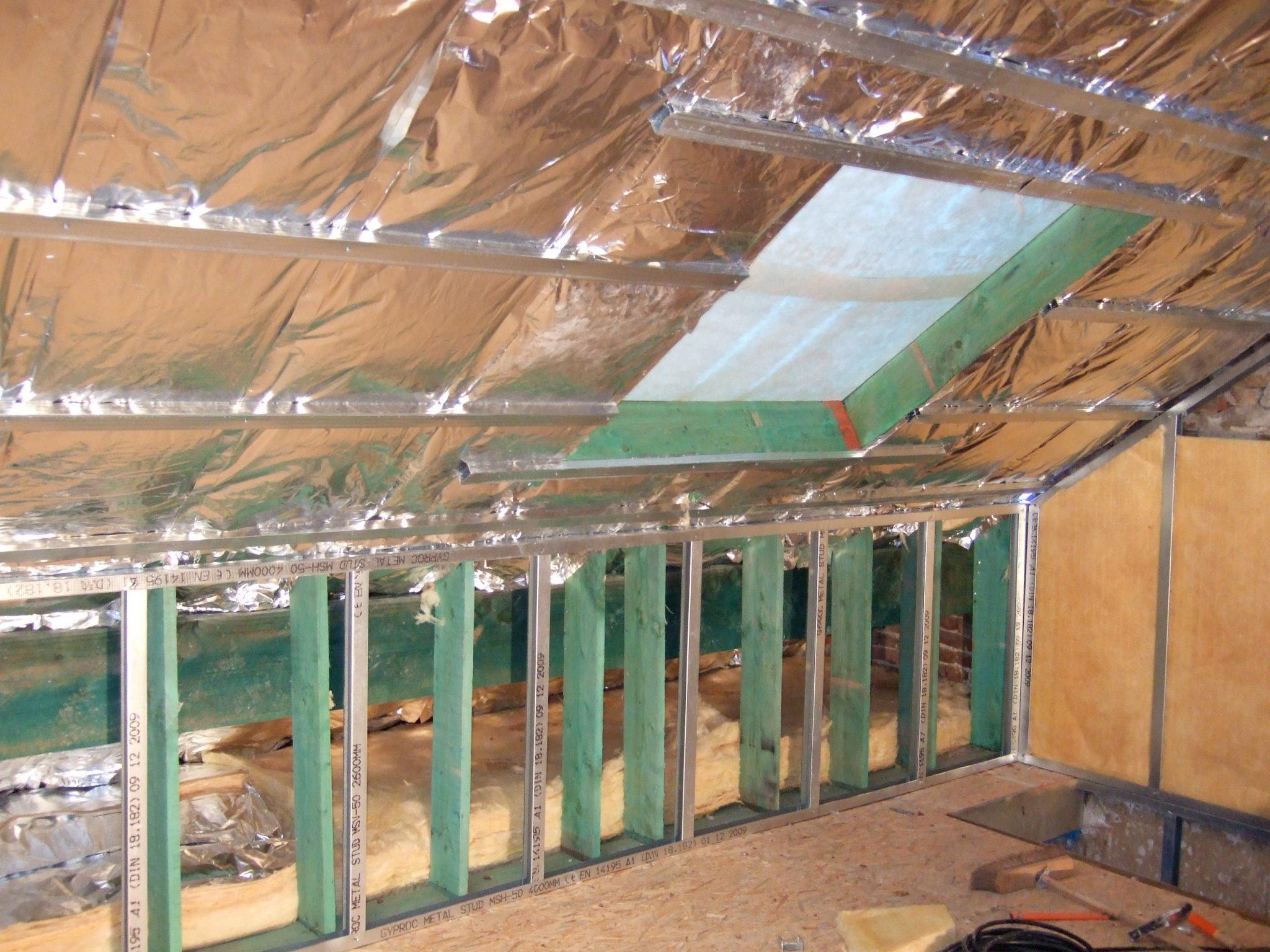 Isoleren dak binnenzijde