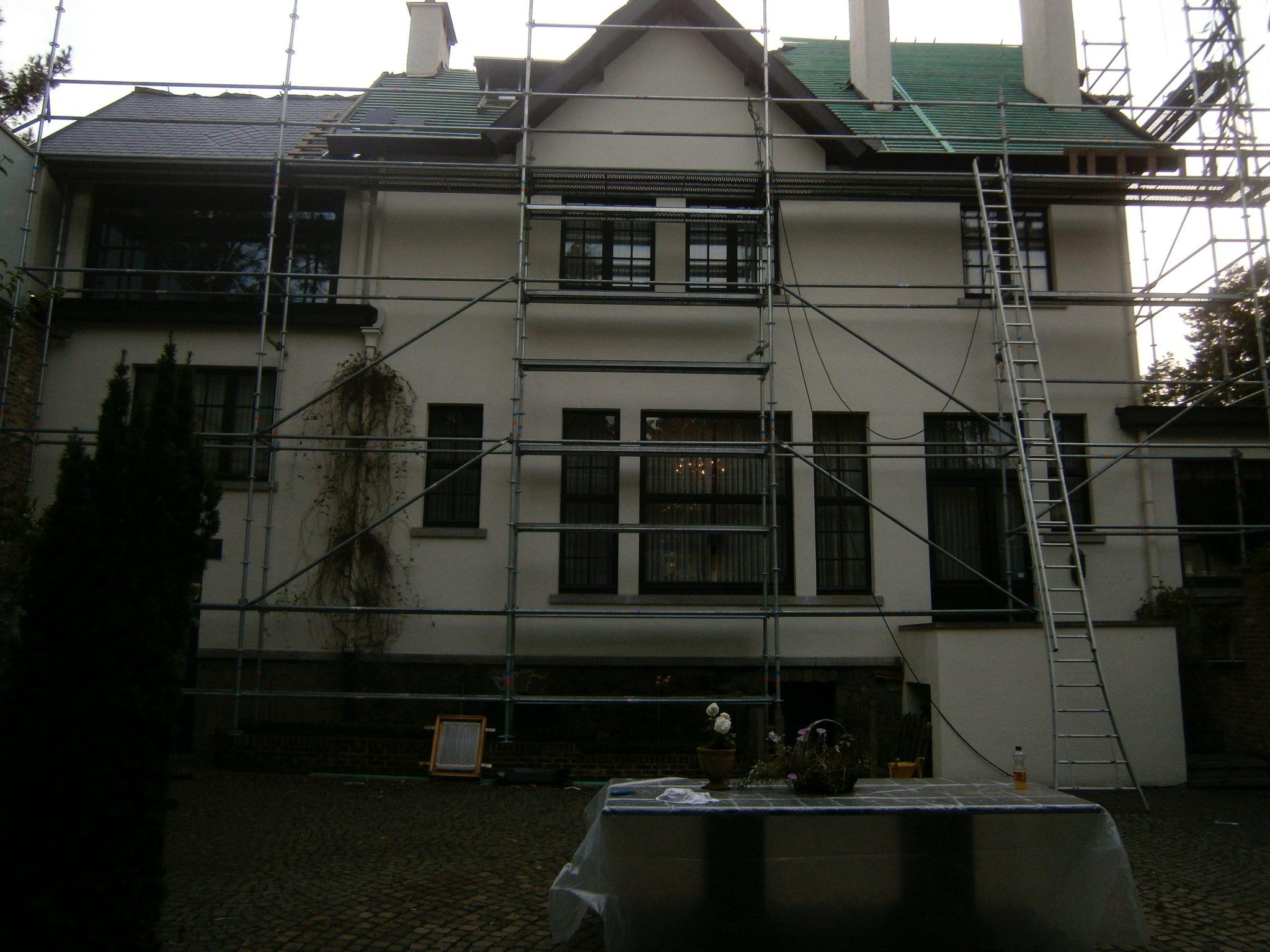 stelling renoveren dak